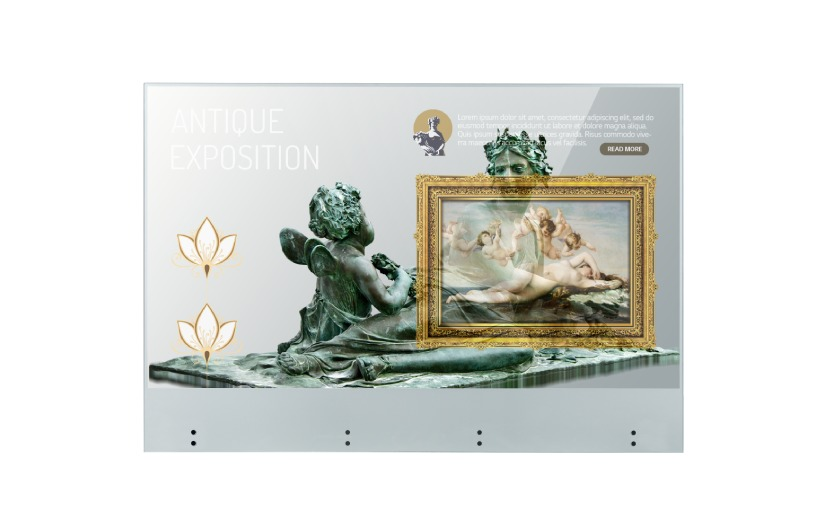 OLED SIGNAGE TRANSPARENT TOUCH 55